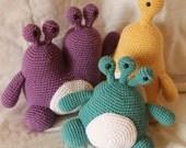 Monster Trio Pattern Bundle - Amigurumi Plush Crochet PATTERNS ONLY (PDF)