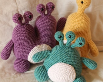 Monster Trio Pattern Bundle - Amigurumi Plush Crochet PATTERNS ONLY (PDF)