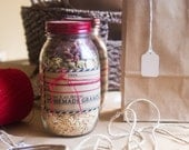 DIY Granola Gift Kit in a Mason Jar for Christmas printable template