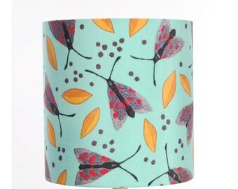 Moths Lampshade - handmade silk shade