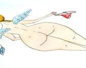 Original illustration - Nude Angel