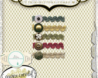 Digital Trim and Digital Buttons by Papier Creatif CU OK