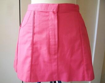 Tennis Mini Skirt in Bright Pink 1980s