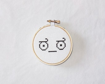 Disapproval - Emote Embroidery Hoop