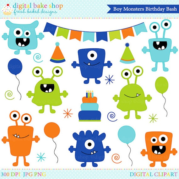 Monster Aliens Clipart Clip Art Birthday Party By