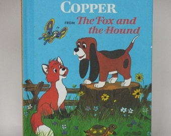 Tod and Copper Notebook - Handmade Disney  Fox and the Hound Notebook