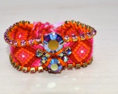 Funky Friendship Bracelets- Pink, Orange, Red, White