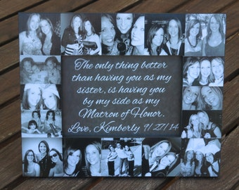 ... Bridesmaid Frame, Bridal Shower Gift, Parent Gift, Best Friend 5