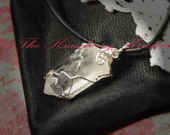 Reiki Jewelry Rock Quartz Point Gemstone Necklace