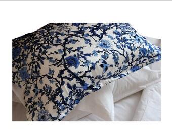 Empressa Blue Silk Pillowcase