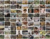 Peredvizhniki Movement. Set of 81 Vintage Prints, Postcards - 1950s-1980s