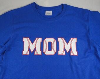 Personalized Baseball Mom women shirt. Customize shirt color