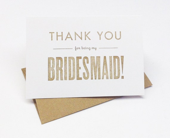 items similar to thank you for being my bridesmaid