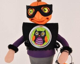 Spooky Halloween Pumpkin Head Trick or Treater