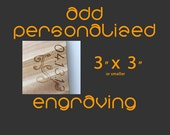 """Custom Text Engraving 3"""" X 3"""" or smaller for ANY CUTTING BOARD"""
