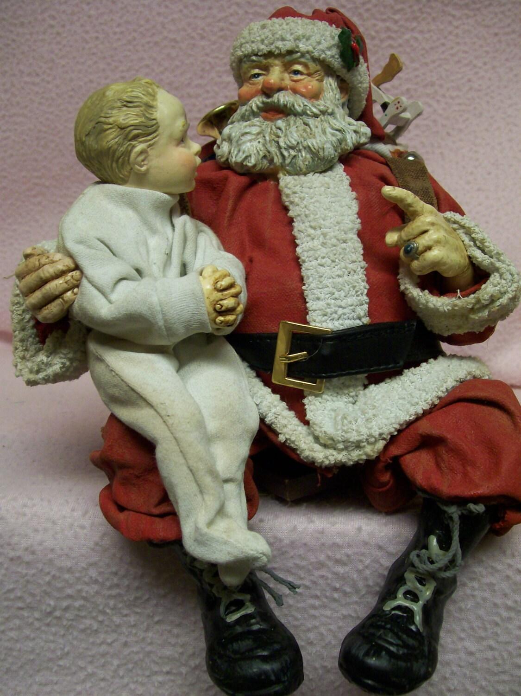 Possible dreams santa claus clothtique little boy with