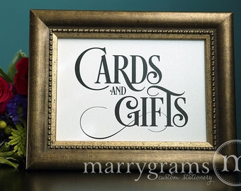 Cards and Gifts Table Sign - Wedding Table Reception Seating Signage - Matching Numbers Available Card, Gift Sign - SS06