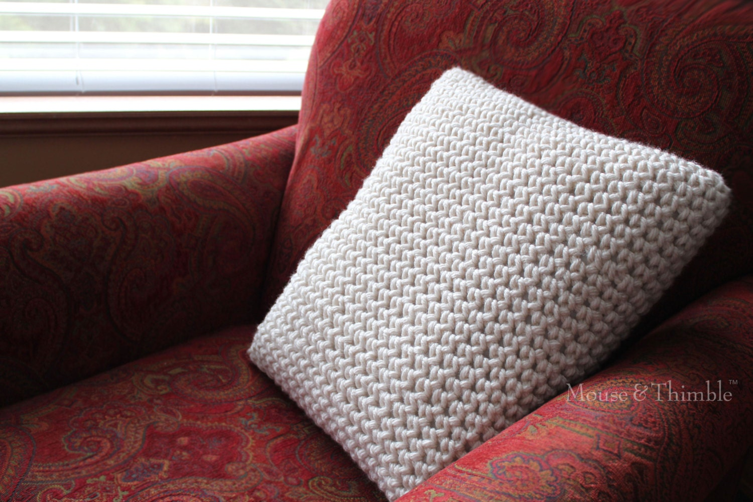 Beginner Crochet Pillow Patterns : Super Bulky Chunky Pillow Beginner Crochet PATTERN / PDF