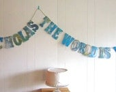 Map Baby Shower, The World Is Yours, Map Banner, Vintage Travel Theme, Map Theme, Photo Prop, Vintage Map Wedding
