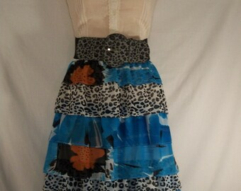 Junk Gypsy Animal Print Dress - Cowgirl Chic with Ruffles - Medium/Large