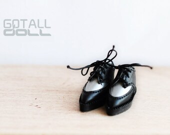 20% OFF - GOTALL doll handmade HARAJUKU style Shoes for Blythe doll - doll shoes - Silver