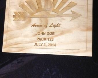 Arrow of Light Scout Award Plaque #1