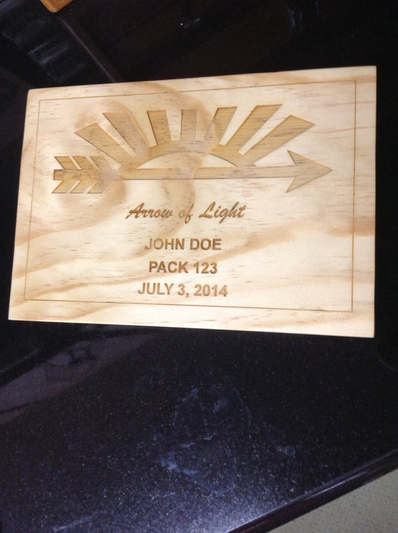 arrow of light scout award plaque 1. Black Bedroom Furniture Sets. Home Design Ideas