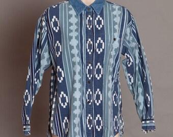 80s 90s Awesome Button Shirt - ILIO - Medium