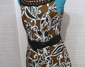cotton tribal sleeveless dress size 12