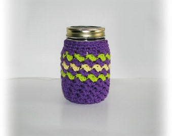 Cozy for PINT size Mason jar - cup - drinking glass - gift container