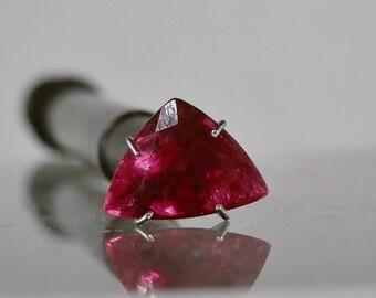 Rubellite Tourmaline Cut Gemstone 3.05 carats Vintage Old Stock Deep Red Gem Loose Stone 12.10 x 8.80 x 5.77 mm DanPickedMinerals