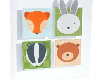 Woodland Animal Craft Cut Up Design Sheet Digital Download Curious Critters