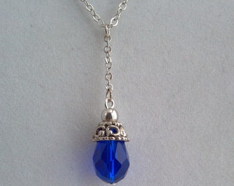 Blue Sepphire Swarovski Crystal Necklace