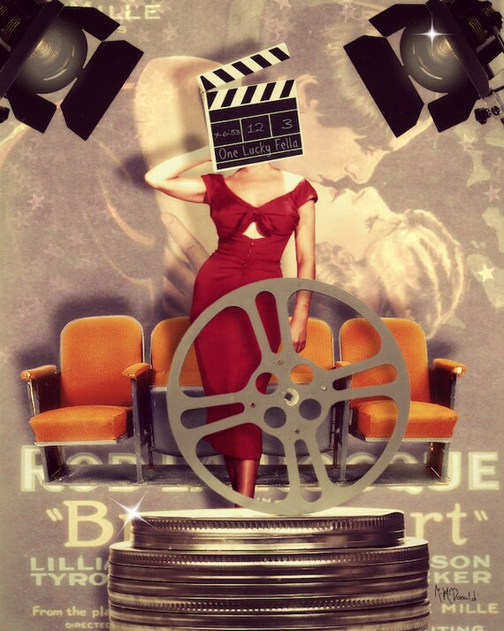 Movie Hollywood Art Collage Mixed Media Movie Poster by Eahkee