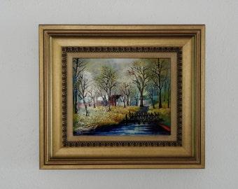 Betty Chou Enamel on Copper Landscape