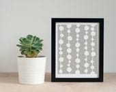 Geometric Artwork, Dots Art Print, Mid Century Modern Wall Decor, 5x7, 8x10