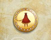 Journey Red Cloak Traveler Pinback Button Badge -  Playstation Game