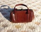 1970s Leather Style Handbag by Elite