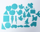 Vintage Stencils Pencil Stencils Geometric Shapes Seasonal Designs Transportation Shapes