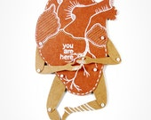 My Heart - Articulated Paper Dolls by Dubrovskaya. Kraft paper, hand painted, MADE TO ORDER.