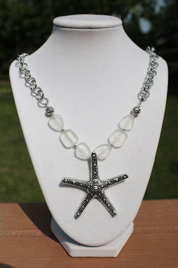 Recycled Glass Starfish Necklace