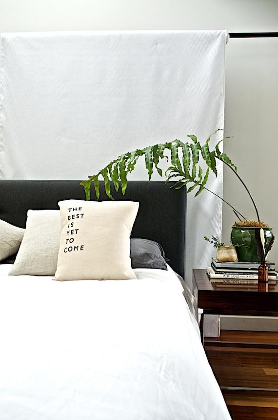 the BEST IS YET // Handmade Pillow // Modern Heirloom