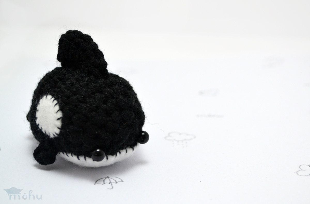 Amigurumi Orca Whale : black orca whale amigurumi crochet plush animal by mohustore
