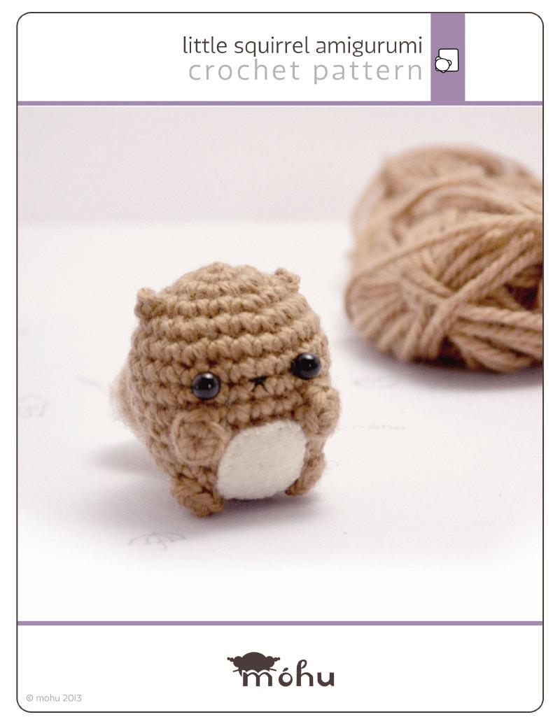 crochet squirrel pattern digital download amigurumi pattern