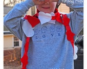 Love Spell American Sign Language SHORT Sleeve Valentine's Day Shirt by Messy Kids Designs