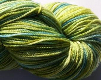 Superwash Merino Sock Yarn, 490 yds, 100g kettle dyed