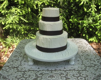 Shabby Chic Cake Stand, Cake Stand, Wood Cake Stand, Round Cake Stand, Shabby Chic Wedding, Cupcake Stand, Wood Cupcake Stand, Dessert Stand
