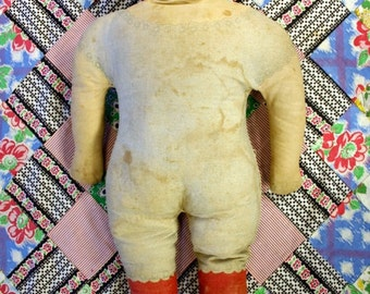 """Antique 24"""" Art Fabric Mills Cloth Doll from 1900"""