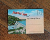 Vintage Postcard with Pictures - Norris Dam and the Tennessee Valley - Unused