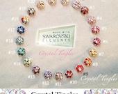 Bling Sparkle Flower Swarovski Elements Crystal Diamond Peel Pop Up Sticker Apple iPhone Home Button 7 6s Plus SE 5s 5c
